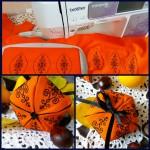 текстильная тыква на Хэллоуин