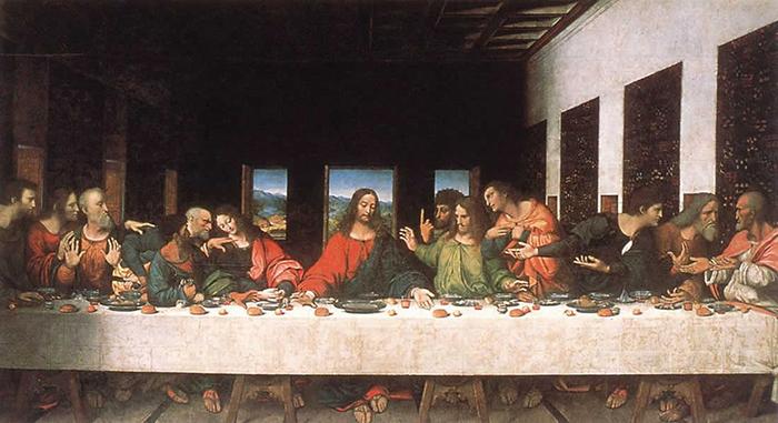 Тайная вечеря Леонардо да Винчи.